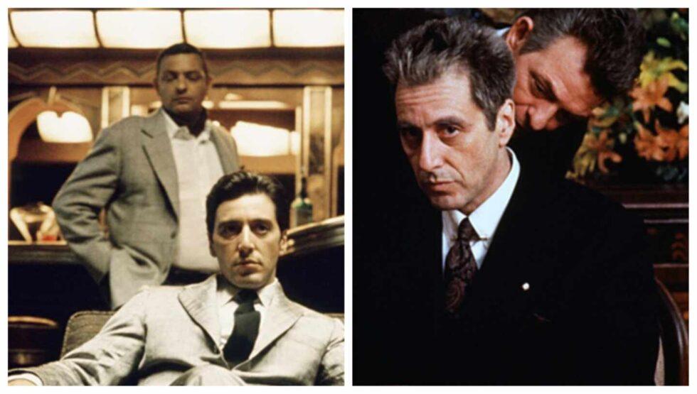 Richard Bright en dos de las películas de El Padrino