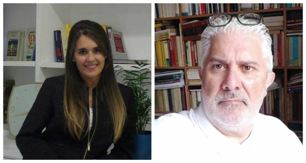 La psicóloga forense Abigail Mora y el historiador César Alcalá en una fotografía