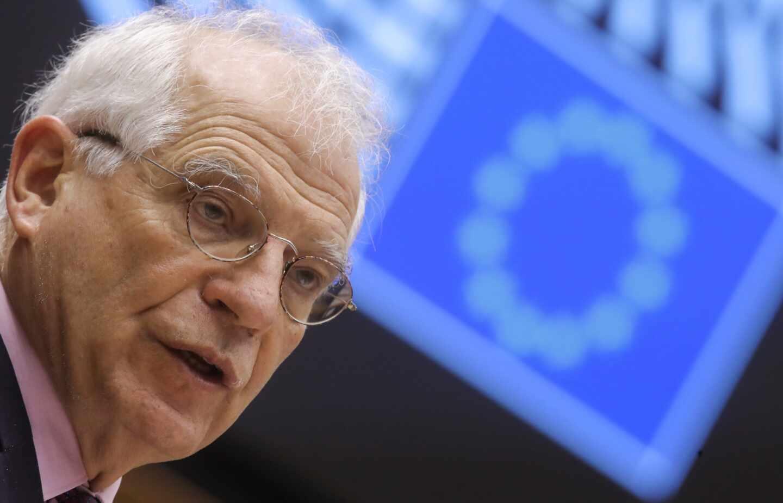 El presidente del El jefe de la diplomacia europea, Josep Borrell, comparece en el Parlamento Europeo para hablar de su viaje a Rusia