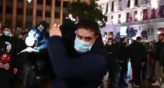 Los políticos madrileños condenan la agresión a un cámara de Telemadrid en la protesta de apoyo a Hasel