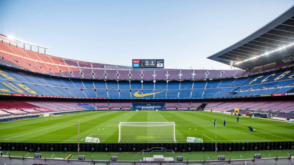 Imagen del Camp Nou, el estadio del Barcelona, uno de los lugares que se barajan como centro de vacunación masiva