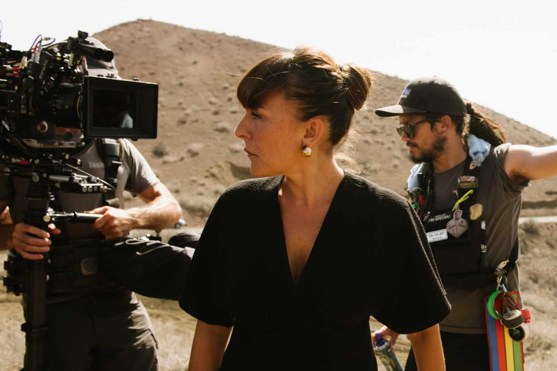 Candela Peña en un set de rodaje de la segunda temporada de Hierro de Movistar+