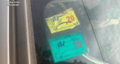 Piden cárcel para un conductor que circulaba por Valencia con la pegatina de la ITV falsificada