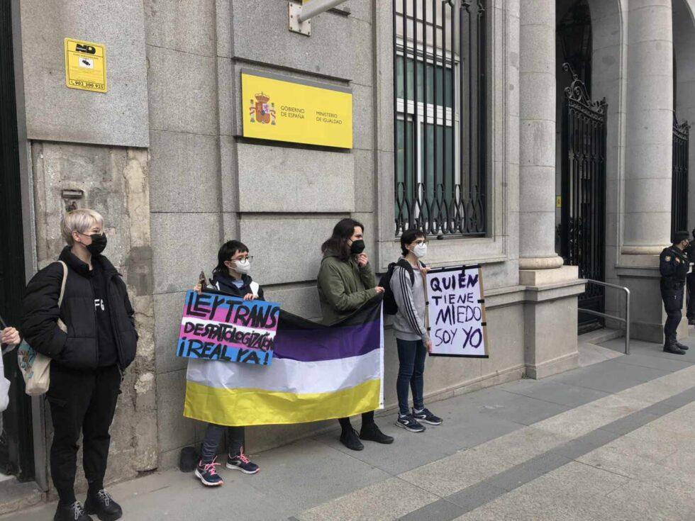 Una persona trans en el Ministerio de Igualdad