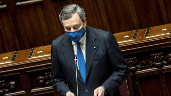Mario Draghi interviene ante los diputados en su voto de confianza
