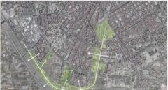Un mapa del proyecto del corredor verde en Valencia