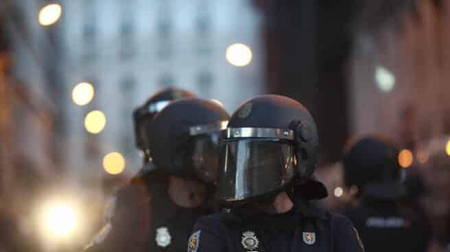 Antidisturbios en una manifestación de Rodea el Congreso de 2014.