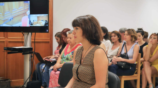 Juana Rivas declara en un juicio en julio de 2018.
