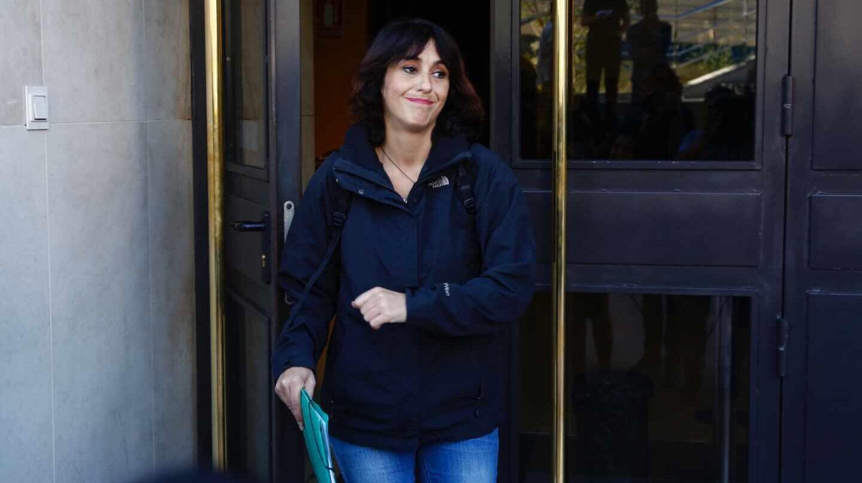 Juana Rivas acude a recoger la sentencia de su caso en España, en 2018.