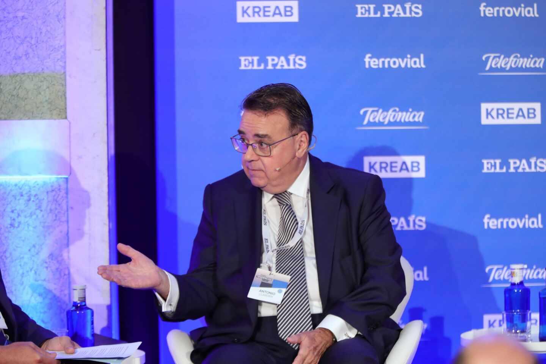 El presidente de Enagás, Antonio Llardén durante su intervención en la inauguración del Foro Tendencias España 2020