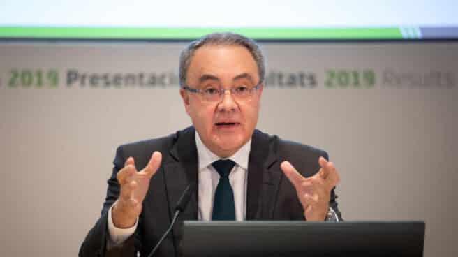 Tobías Martínez, CEO de Cellnex durante la presentación de resultados