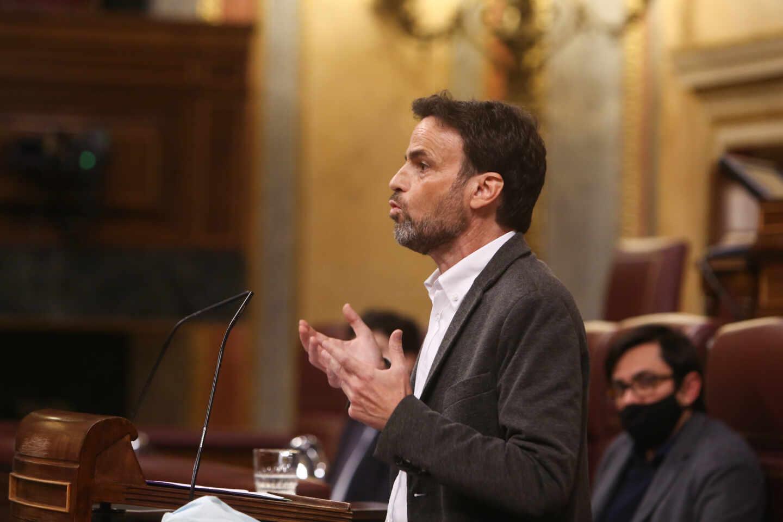El presidente del grupo de Unidas Podemos en el Congreso, Jaume Asens, en el Congreso.