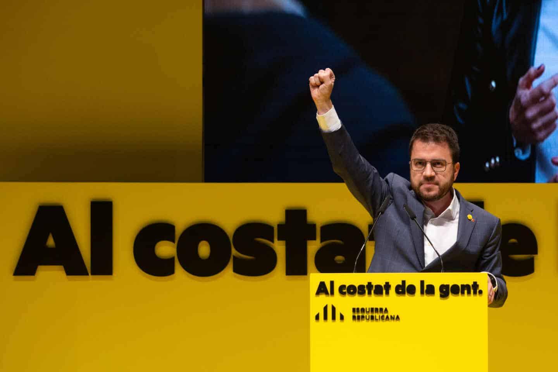 El candidato de ERC a la presidencia de la Generalidat de Cataluña, Pere Aragonés.