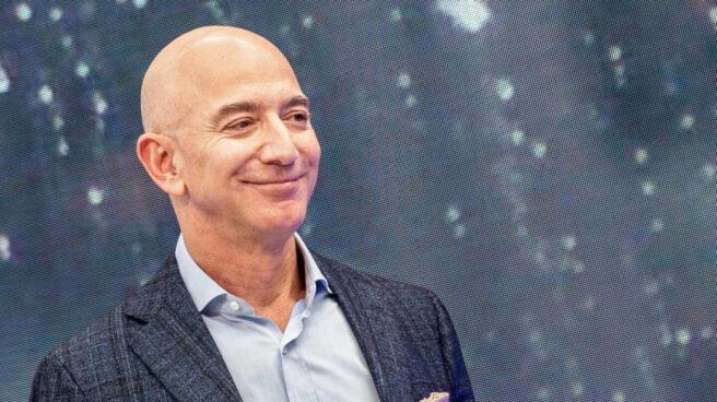 Jeff Bezos, CEO de Amazon durante una conferencia en Estados Unidos