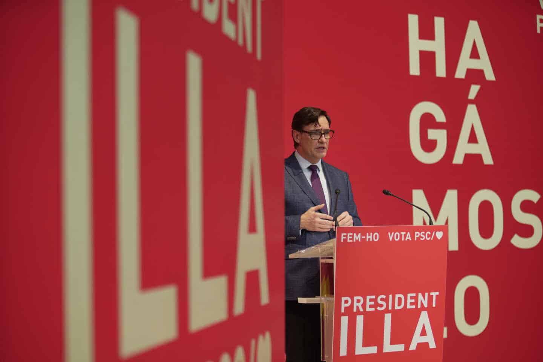 Salvador Illa, en un acto electoral