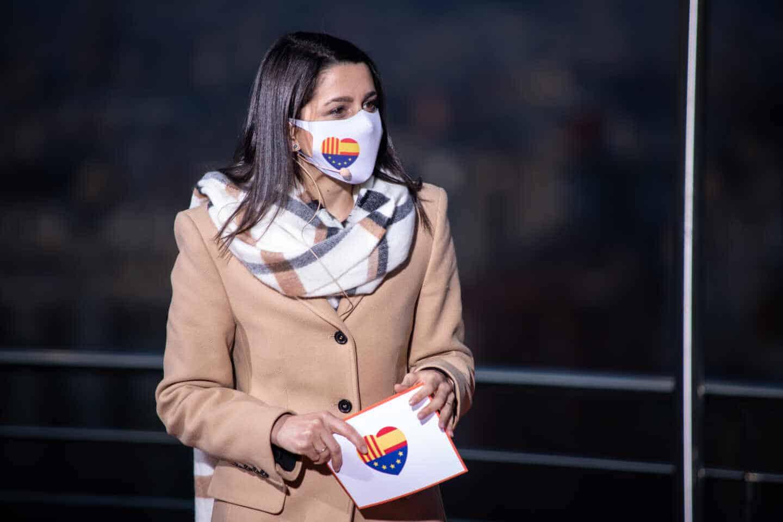 La presidenta de Ciudadanos, Inés Arrimadas, en un acto del partido en Cataluña