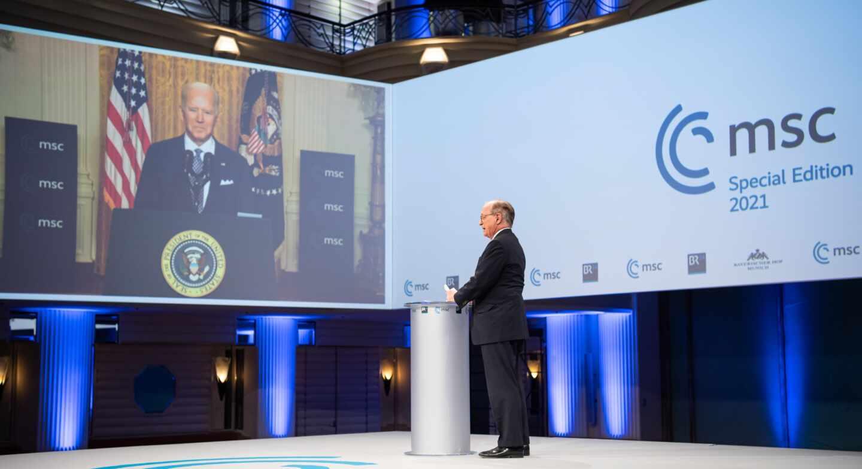 Joe Biden interviene en la Conferencia de Seguridad de Múnich
