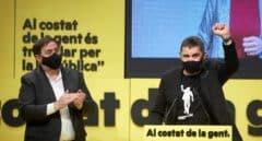 Junqueras y Otegi exhiben su pacto en el Congreso ante las presiones de JxCat