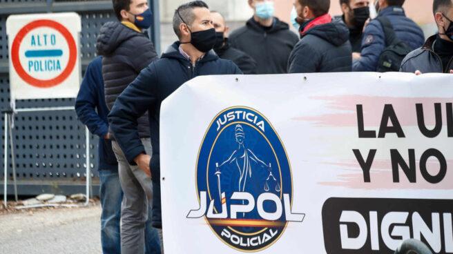 Concentración del sindicato de policías Jupol.