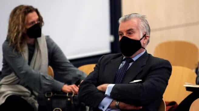 El ex tesorero del PP Luis Bárcenas, durante el juicio por la presunta caja 'B' del PP.