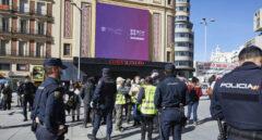 Policía Nacional en la Plaza de Callao de Madrid
