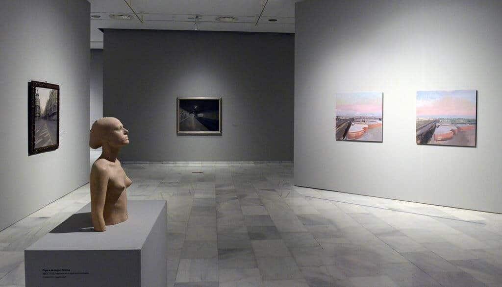 Una sala de la Fundación Bancaja en Valencia en la exposición antológica de Antonio López