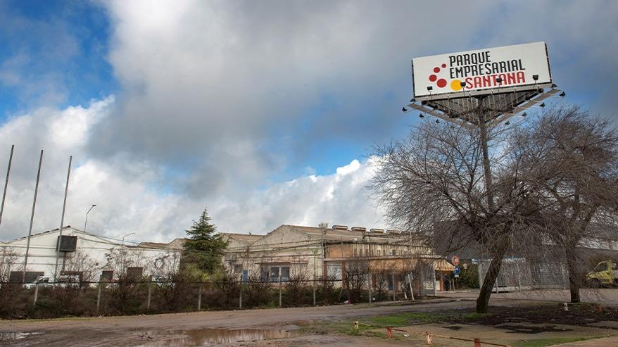 Vista exterior del parque empresarial Santana, en Linares (Jaén).