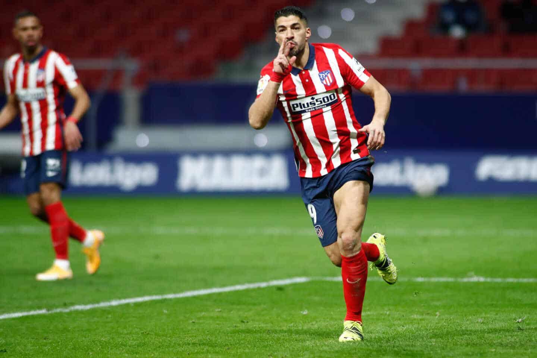 Luis Suárez, jugador del Atlético de Madrid, celebra un gol en el estadio Wanda Metropolitano