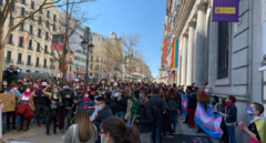 Manifestantes urgen ante Ministerio de Igualdad la aprobación de la Ley Trans