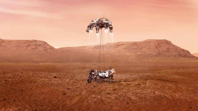Imagen del Persevarance en Marte