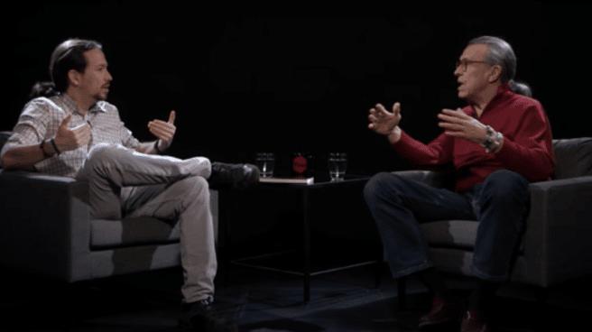Fotograma de un programa de 'La Tuerka' con Pablo Iglesias y Martín Medem.