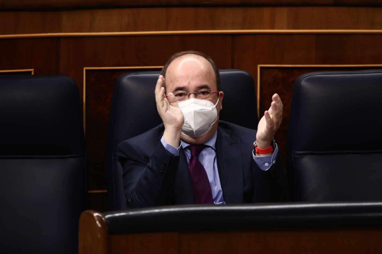 El ministro de Política Territorial y Función Pública, Miquel Iceta, en el Congreso.