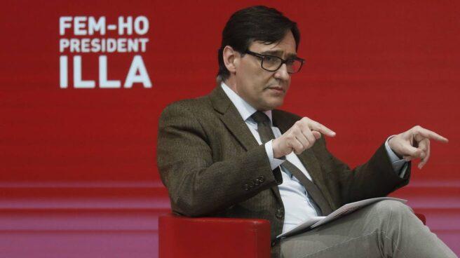 Salvador Illa participa en un acto electoral