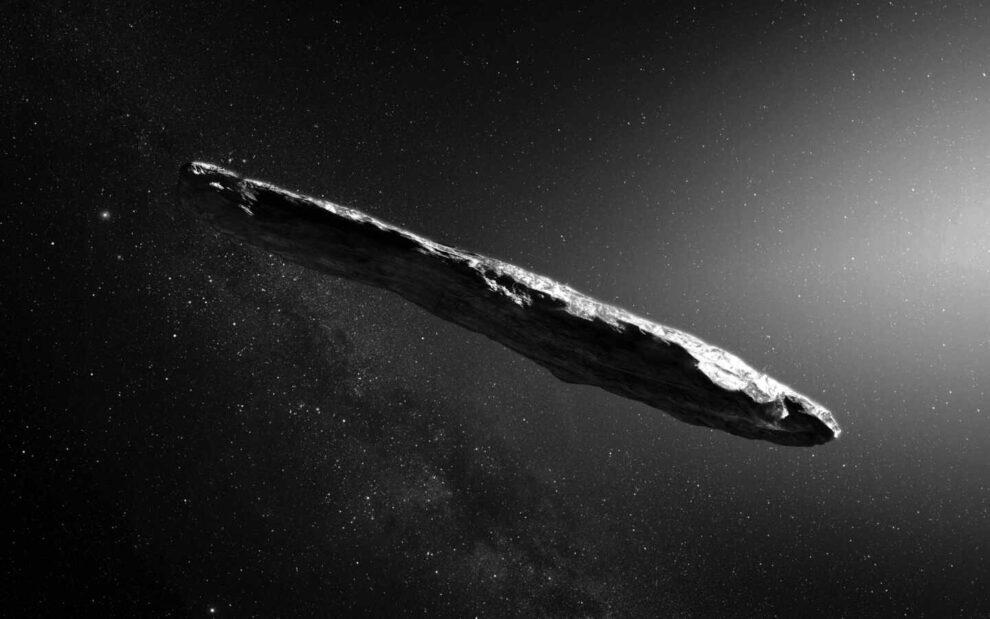 Recreación artística de Oumuamua.