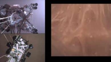 Así fue el espectacular aterrizaje del Perseverance en Marte visto desde la propia nave