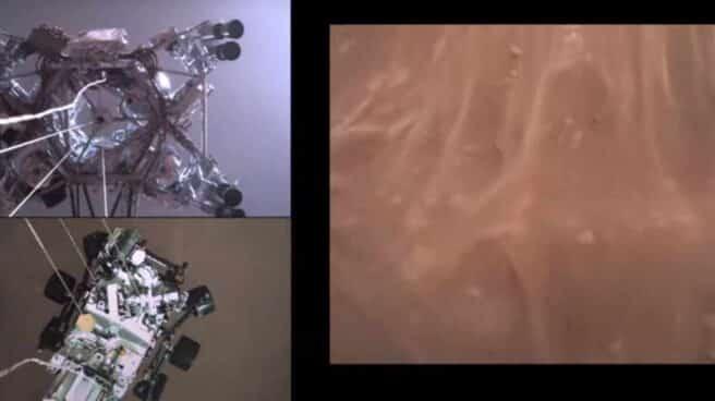 Imagen del aterrizaje del Perseverance en Marte
