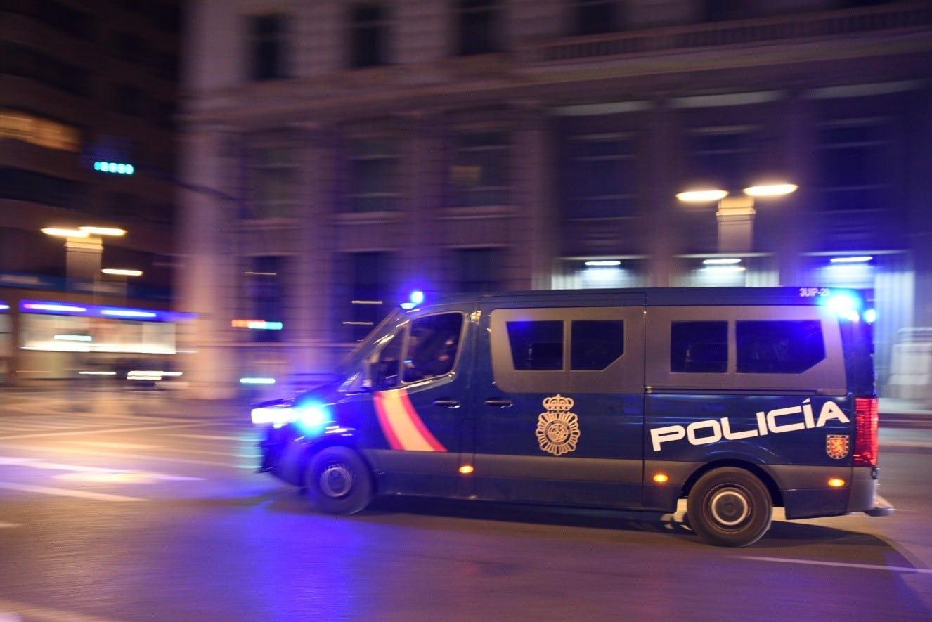 Un furgón de la Policía Nacional Antidisturbios
