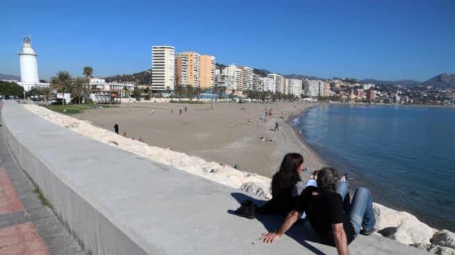 Playa de La Malagueta (Málaga).