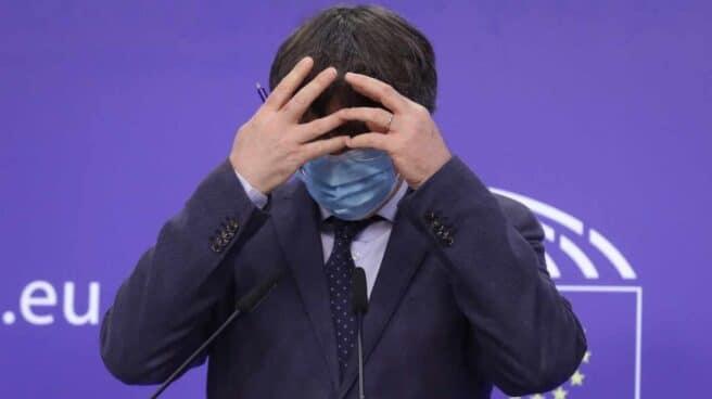 Carles Puigdemont. en Bruselas.