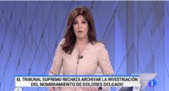 TVE se lía con la decisión del Supremo sobre el nombramiento de Dolores Delgado