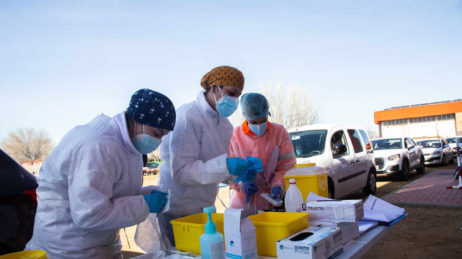 Campaña de vacunación en Villafranca de los Barros (Badajoz).