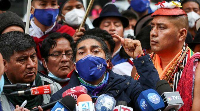 Yaku Pérez convoca una protesta pacífica para denunciar el fraude en Ecuador
