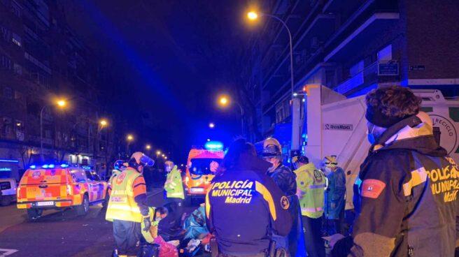 Accidente mortal de un repartidor en Madrid.