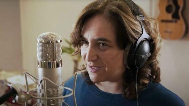 La alcaldesa de Barcelona, Ada Colau, en un vídeo de En Comú Podem para las elecciones de Cataluña.