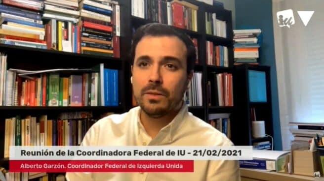 Alberto Garzón, en la Coordinadora Federal de Izquierda Unida.