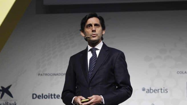 El presidente de Telefónica, José María Álvarez-Pallete, en una presentación de la CEOE