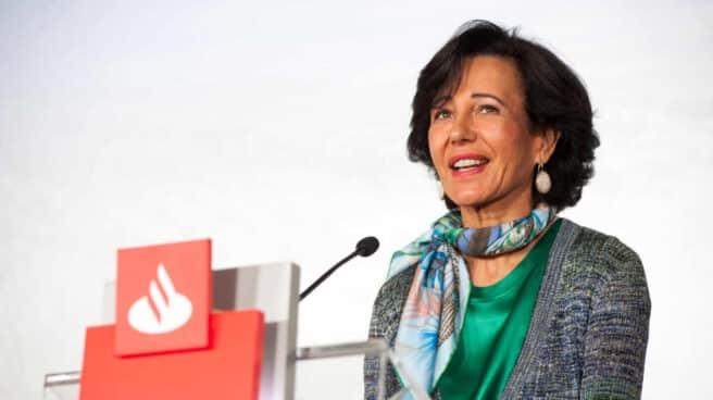 La presidenta de Santander, Ana Botín, durante la última presentación de resultados del banco.