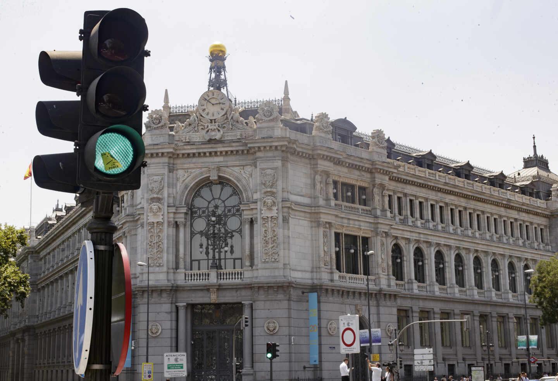 Fachada de la sede central del Banco de España, en Madrid.