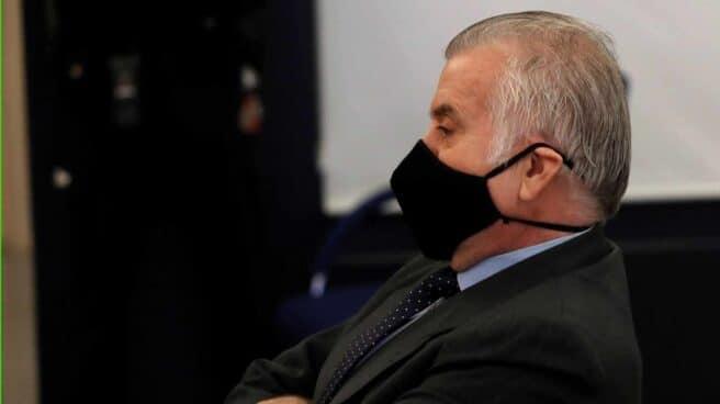 El ex tesorero del PP Luis Bárcenas durante el juicio por la presunta caja 'b' del PP.