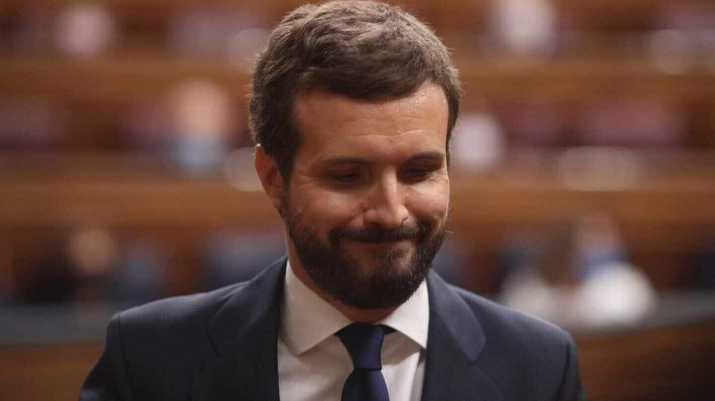 El líder del PP, Pablo Casado, en el Congreso.